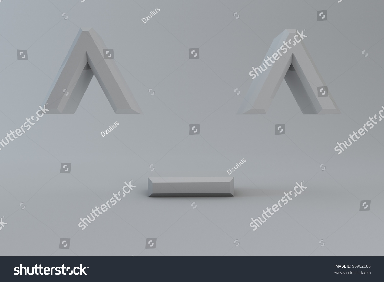 Social Emoticons Symbols Isolated On White Stock Illustration