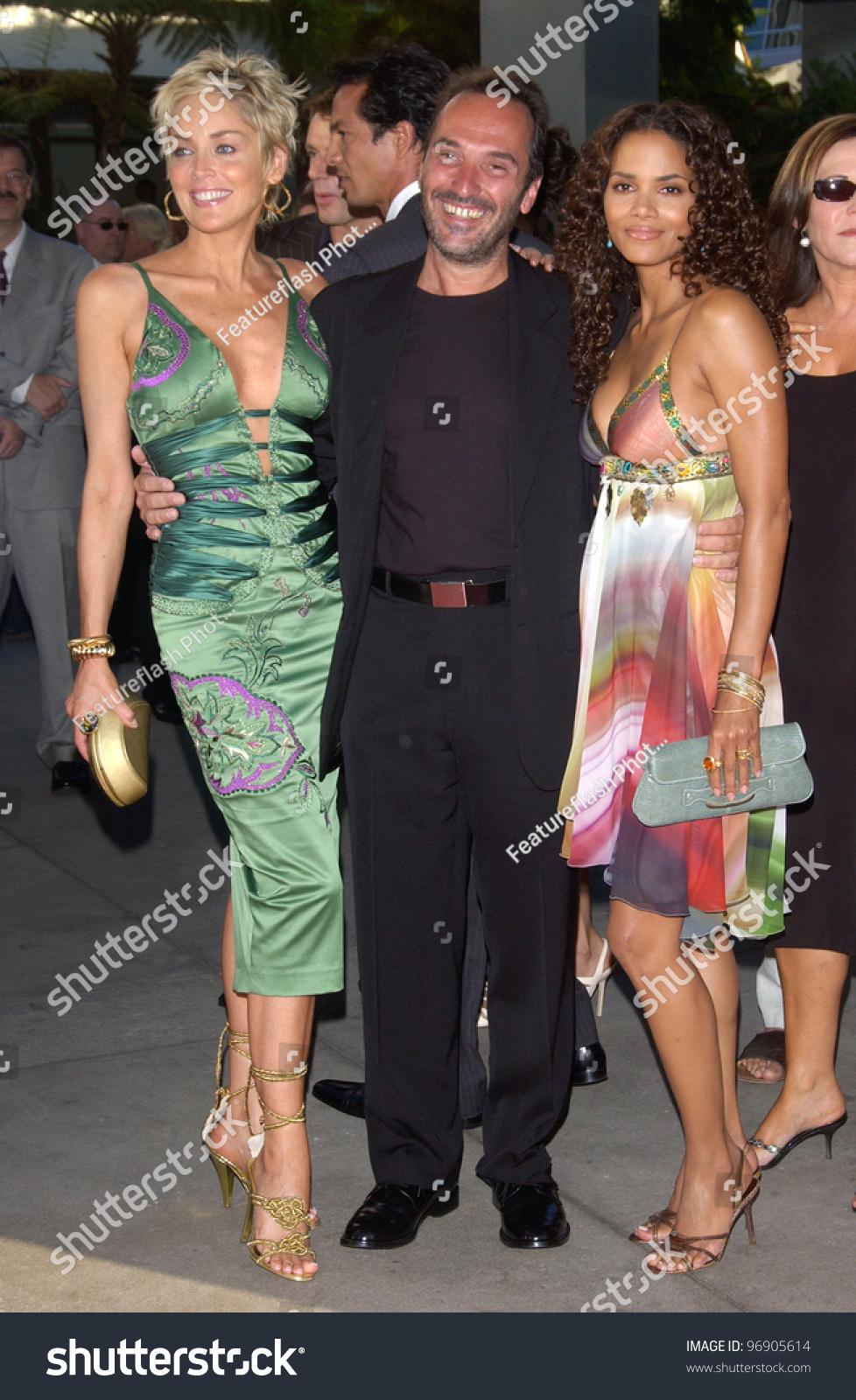 Actresses Halle Berry Right Sharon Stone Stock Photo Edit