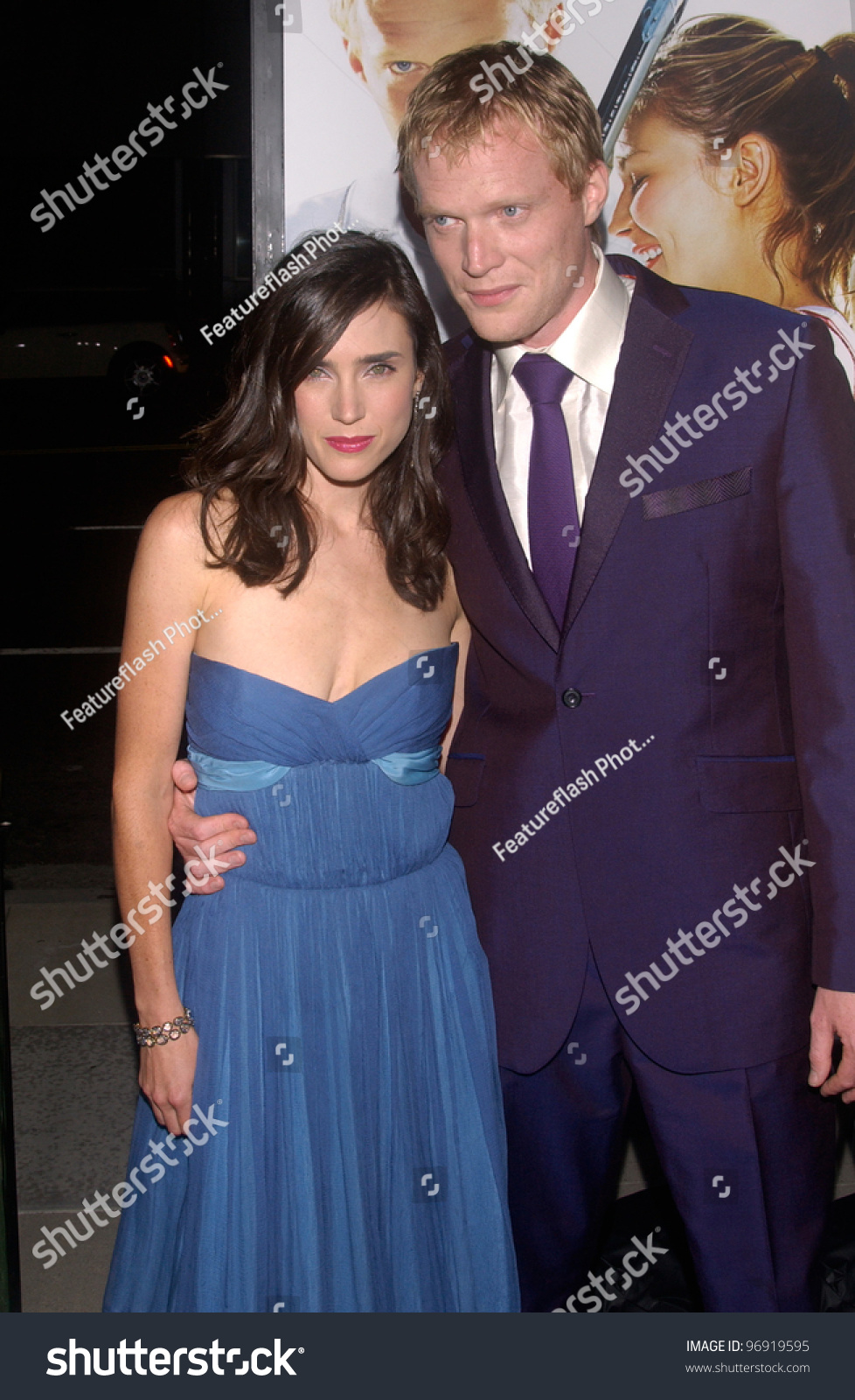 actor paul bettany wife actress jennifer stock photo 96919595 shutterstock. Black Bedroom Furniture Sets. Home Design Ideas