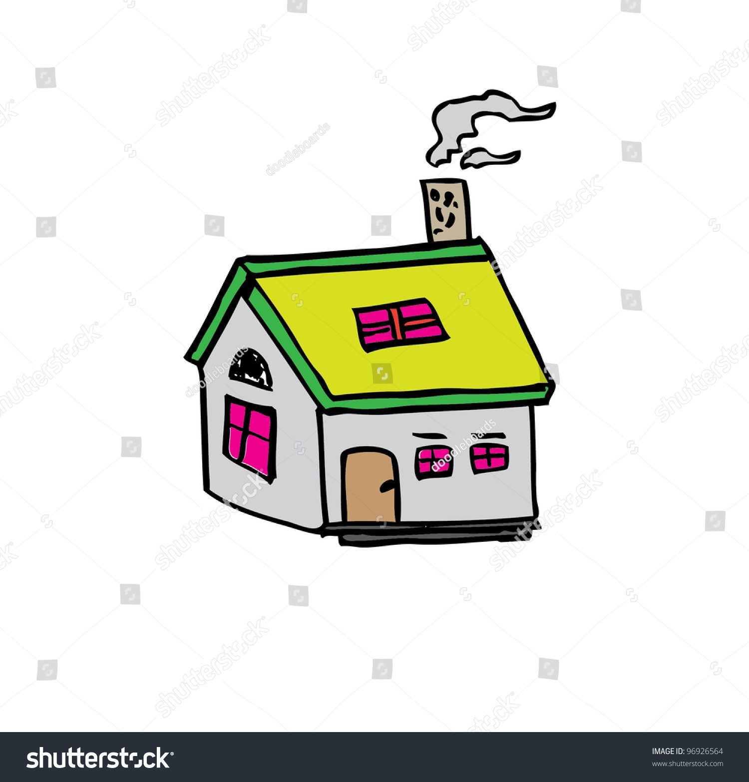 Mini House Cartoon Vector Illustration Stock 96926564