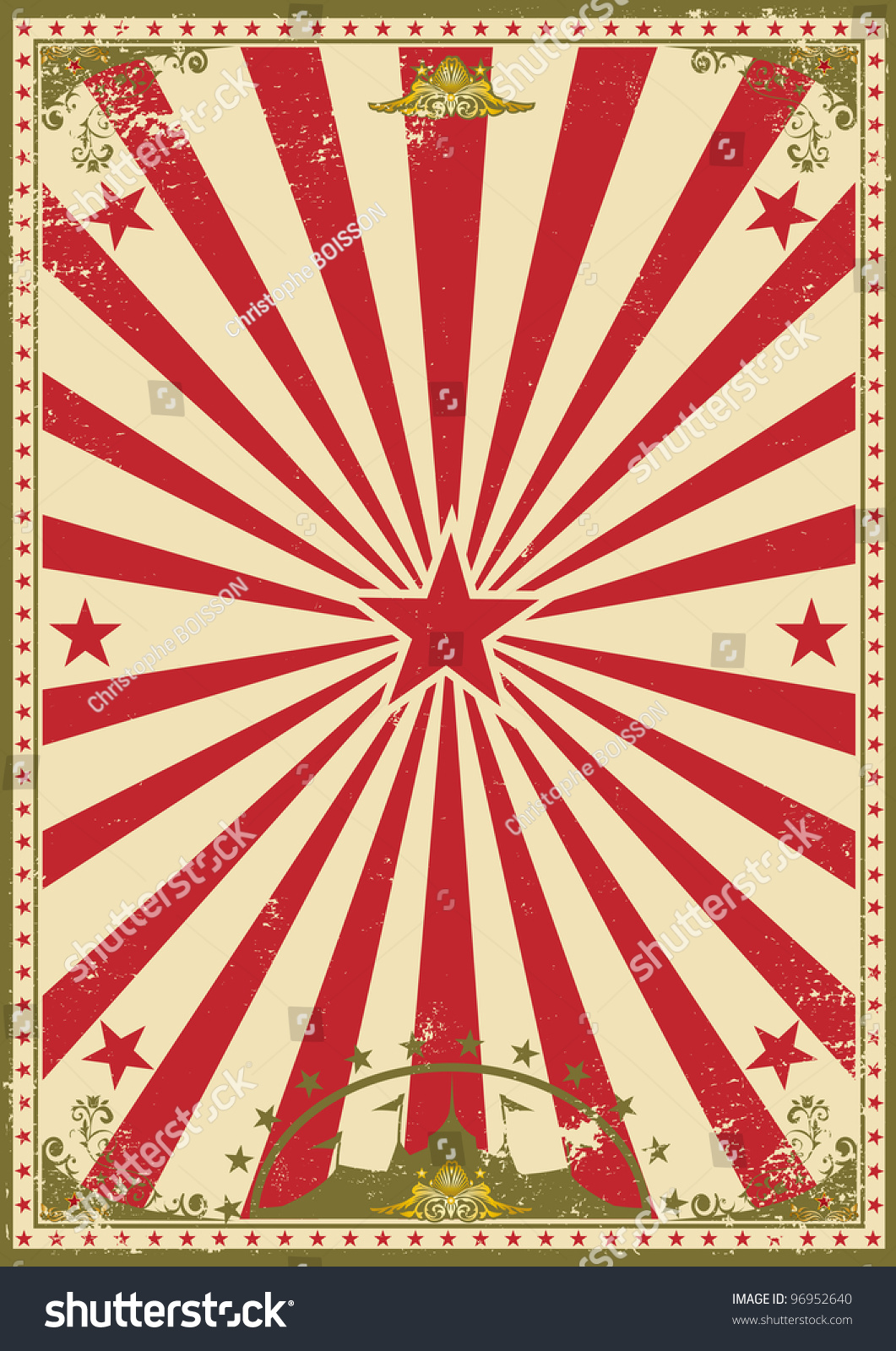 Vintage Circus Poster Background Circus Vintage Retro C...