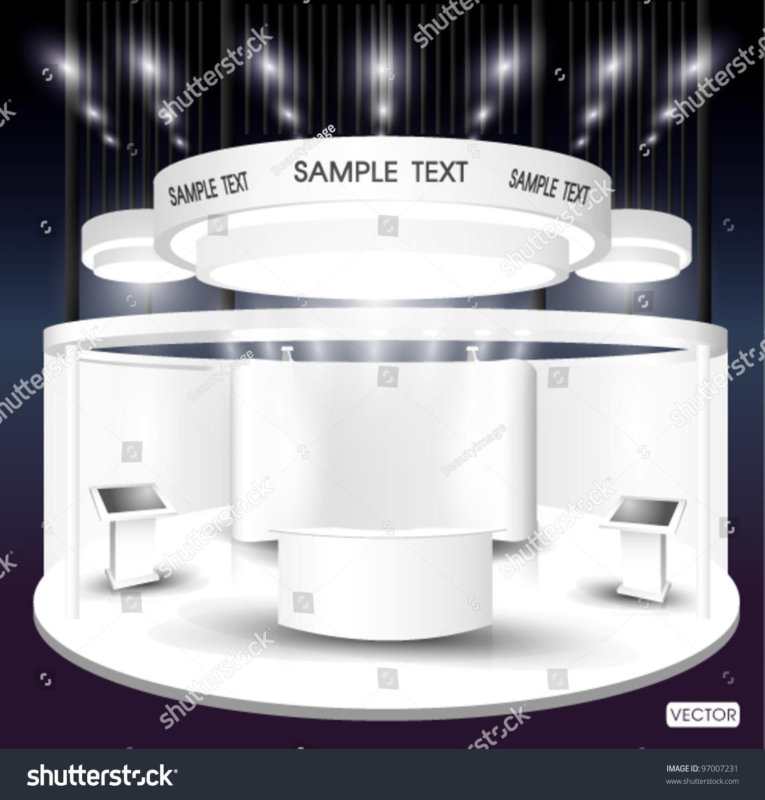 Exhibition Booth Vector : Premium exhibition booth stock vector shutterstock
