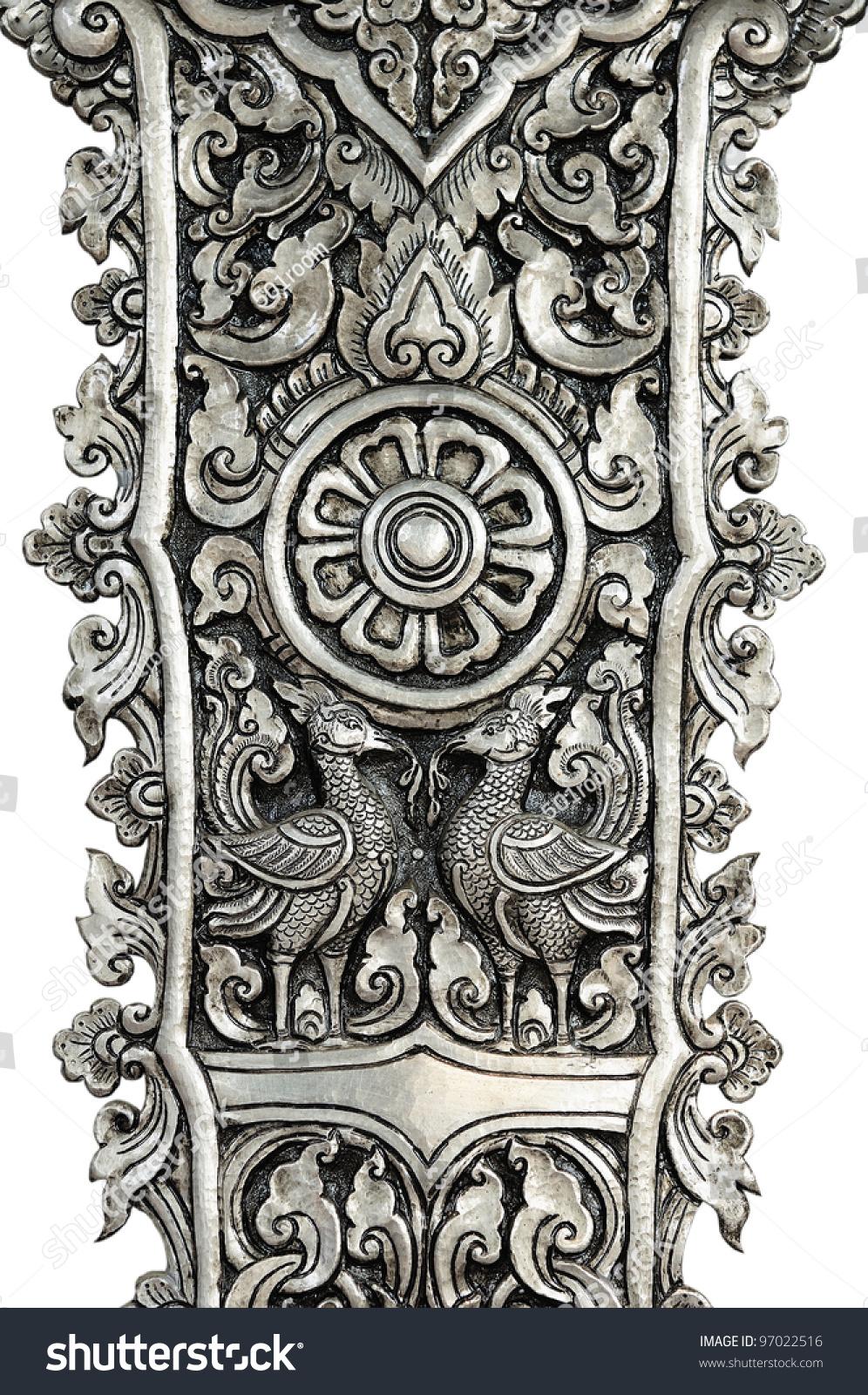 decorative art of lanna thai engraving of the silver value - Decorative Art