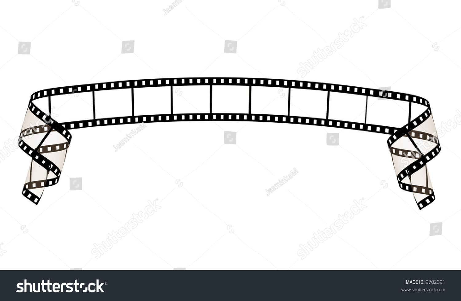 Line Art Ribbon : Film strip ribbon stock illustration 9702391 shutterstock