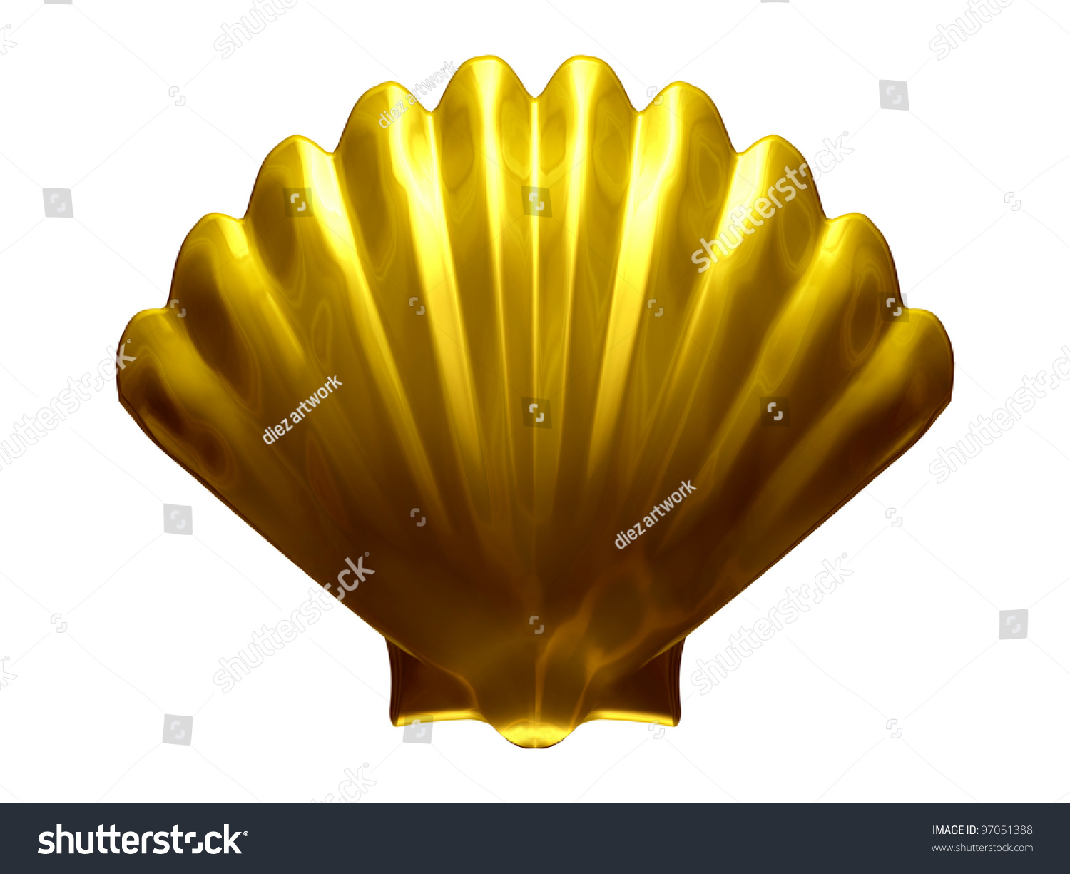 Scallop Shell Symbol Way St James Stock Illustration 97051388