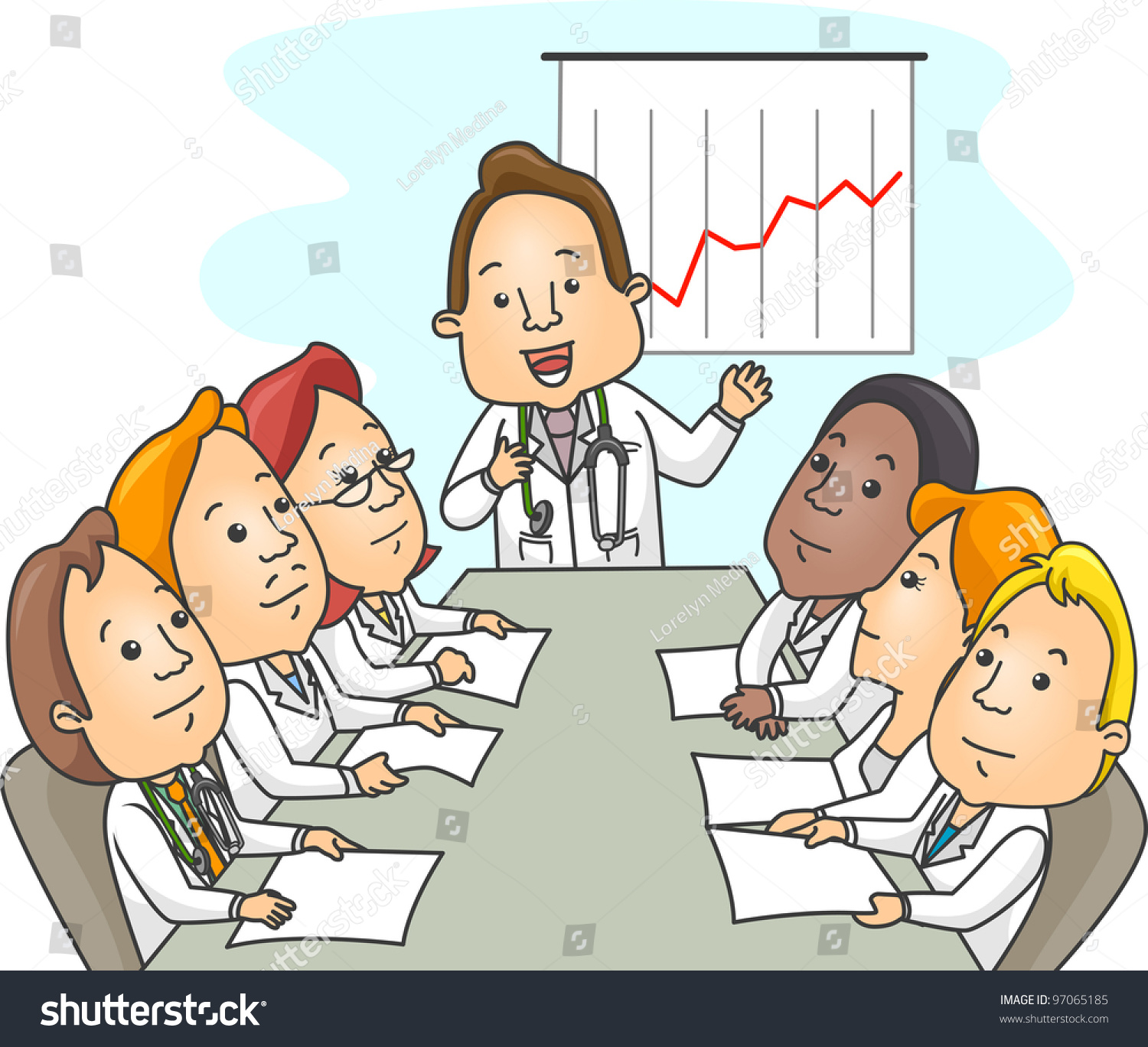 Group Of Doctors Clipart Illustration Group Doc...