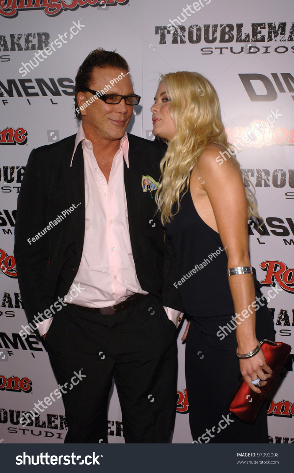 actress jaime king actor mickey rourke stock photo (edit now
