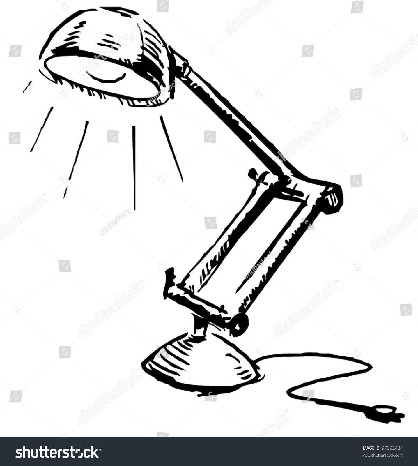 Table lamp adjustable - Adjustable Table Lamp Sketch Vector Illustration