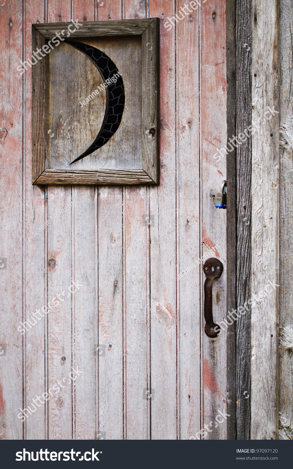 Closeup Weathered Old Wooden Outhouse Door Stock Photo Edit Now