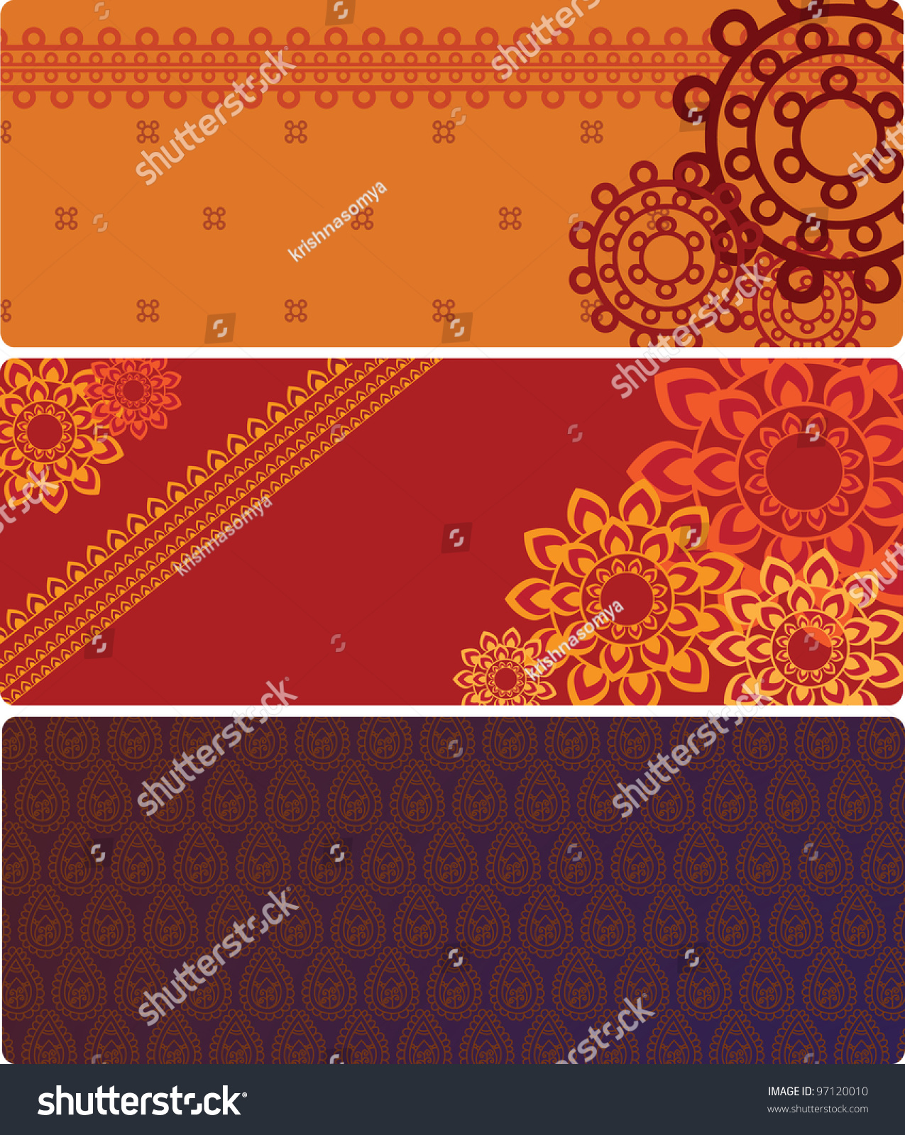 henna inspired banners borders - photo #33