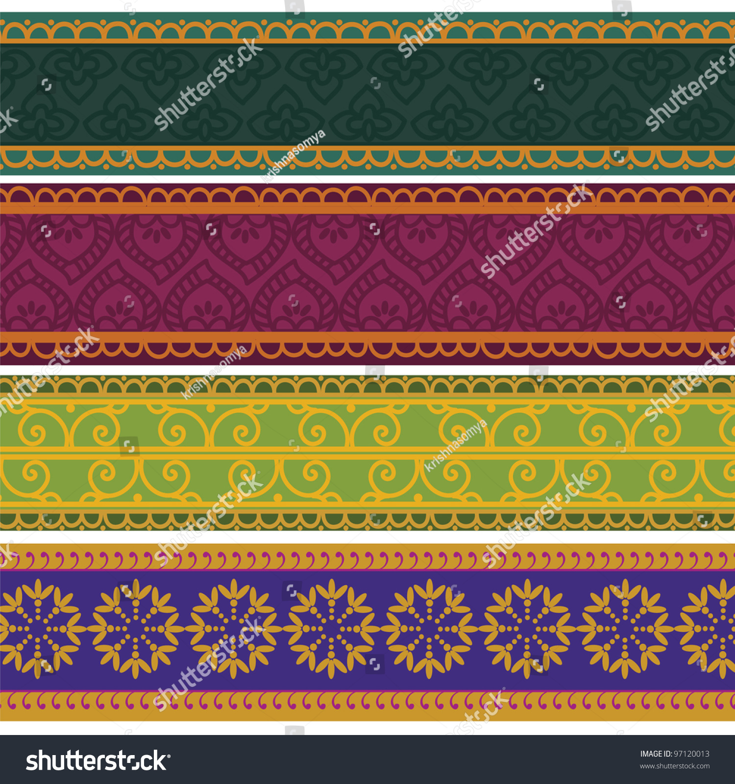 henna inspired banners borders - photo #13