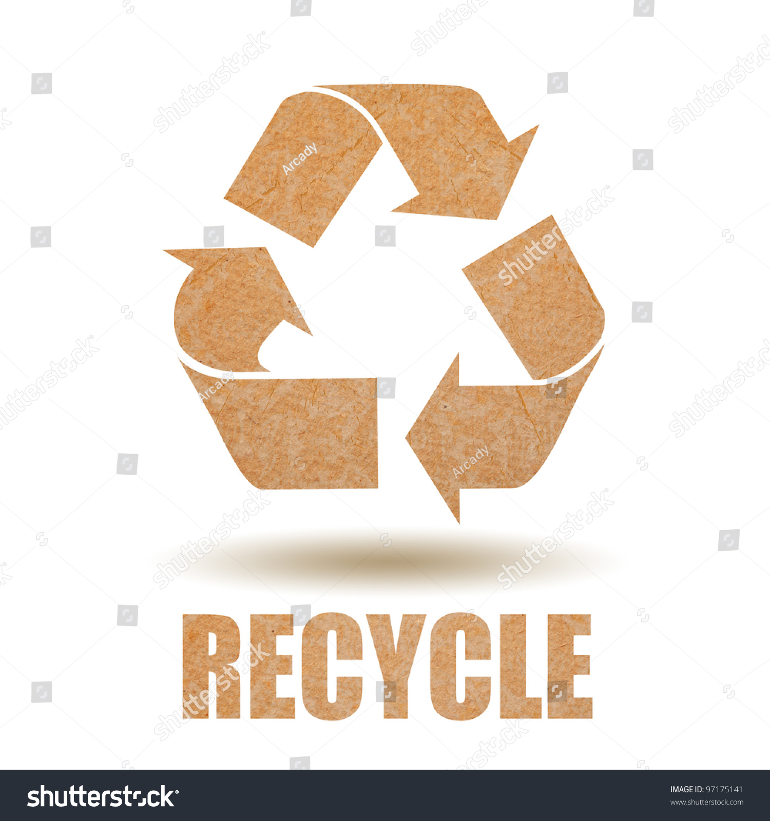 Recycle paper symbol stock photo 97175141 shutterstock recycle paper symbol buycottarizona