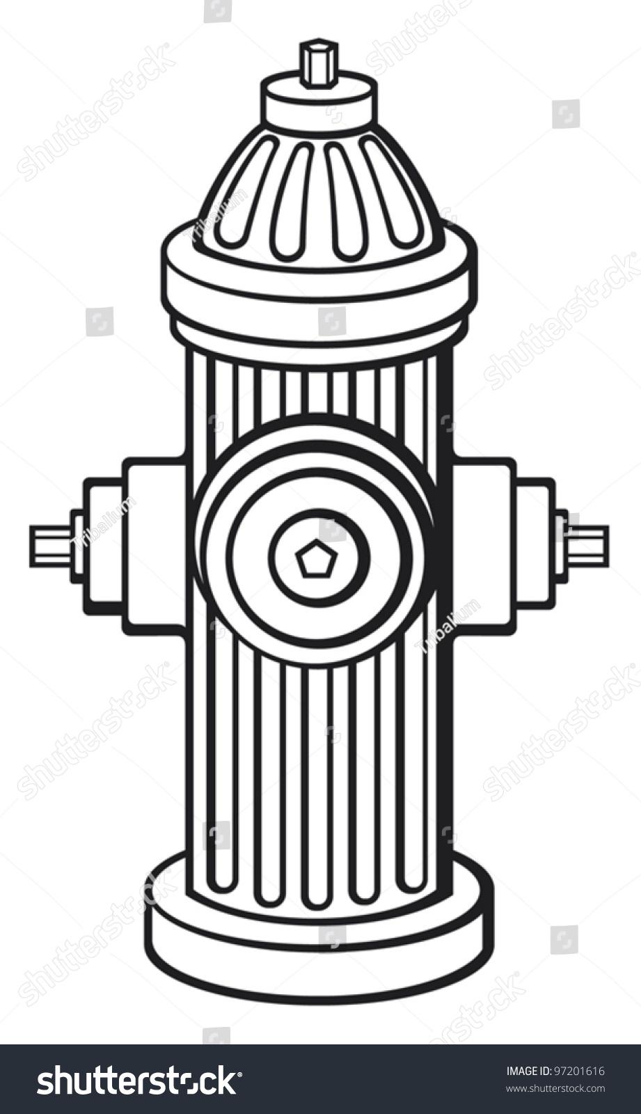 Clip Art Fire Hydrant Clipart fire hydrant stock vector 97201616 shutterstock hydrant