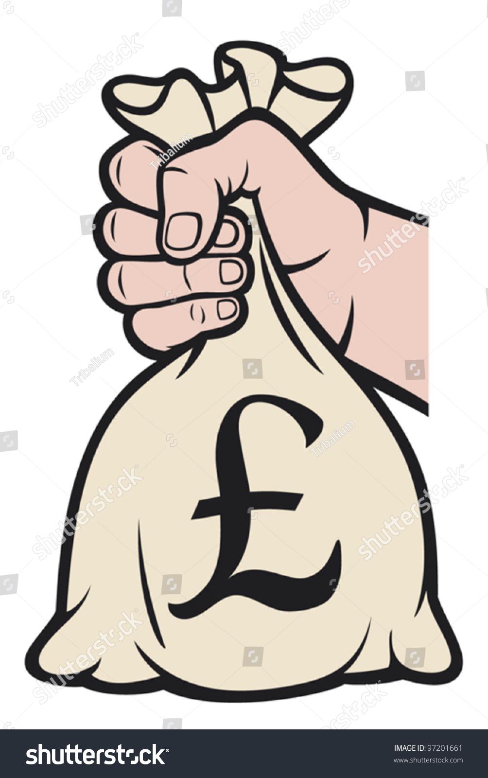 Hand holding money bag pound sign stock vector 97201661 shutterstock hand holding money bag with pound sign buycottarizona Images
