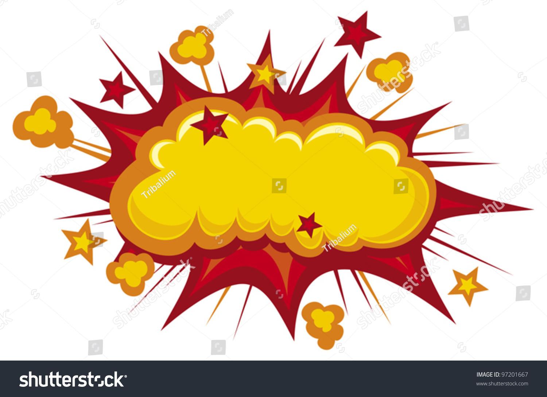 cartoon - boom comic book explosion