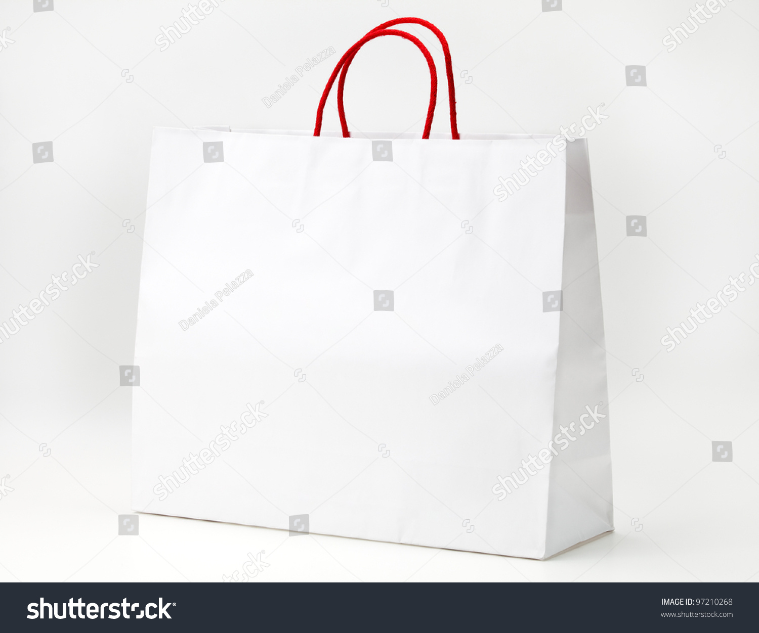 White Shopping Bag On White Stock Photo 97210268 - Shutterstock