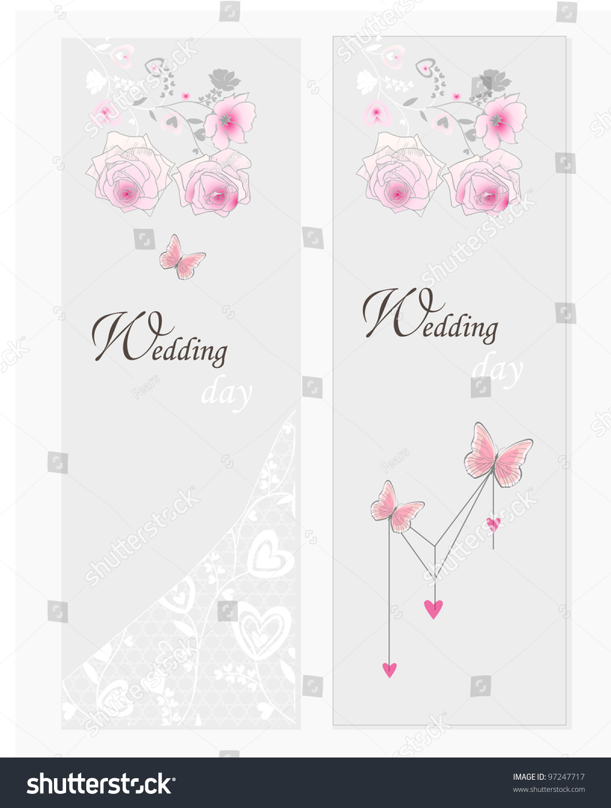 Save the data card template. Wedding invitation, baby shower, menu ...