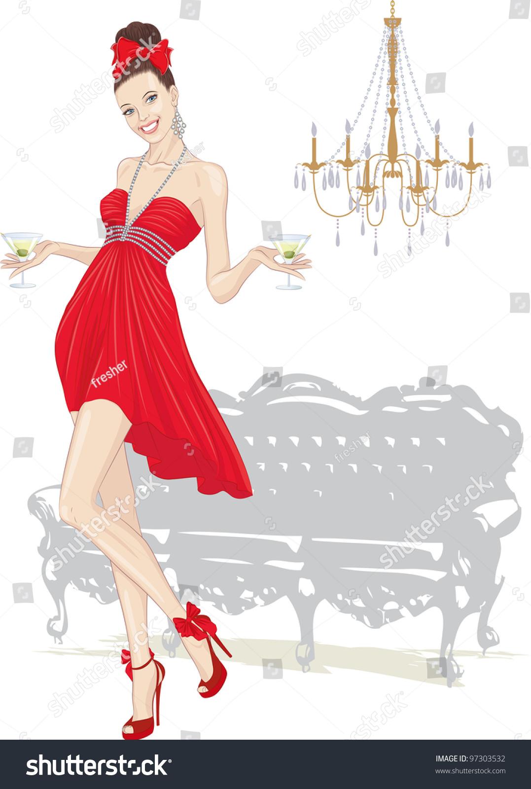 Открытка для элегантной женщины