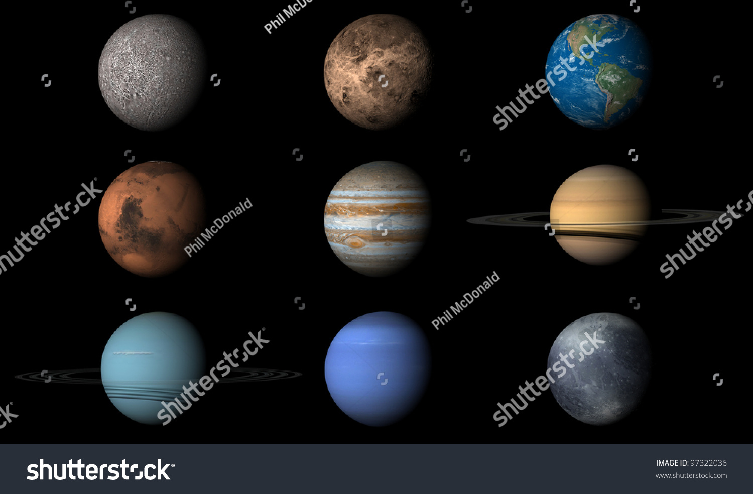 Render Planets Order First Last Including Stock Photo 97322036 ...