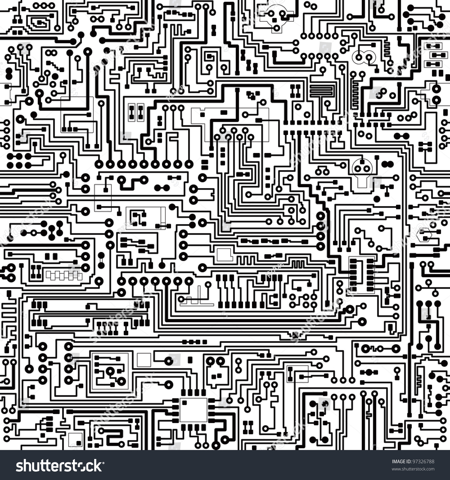 computer circuit board pattern vector seamless texture