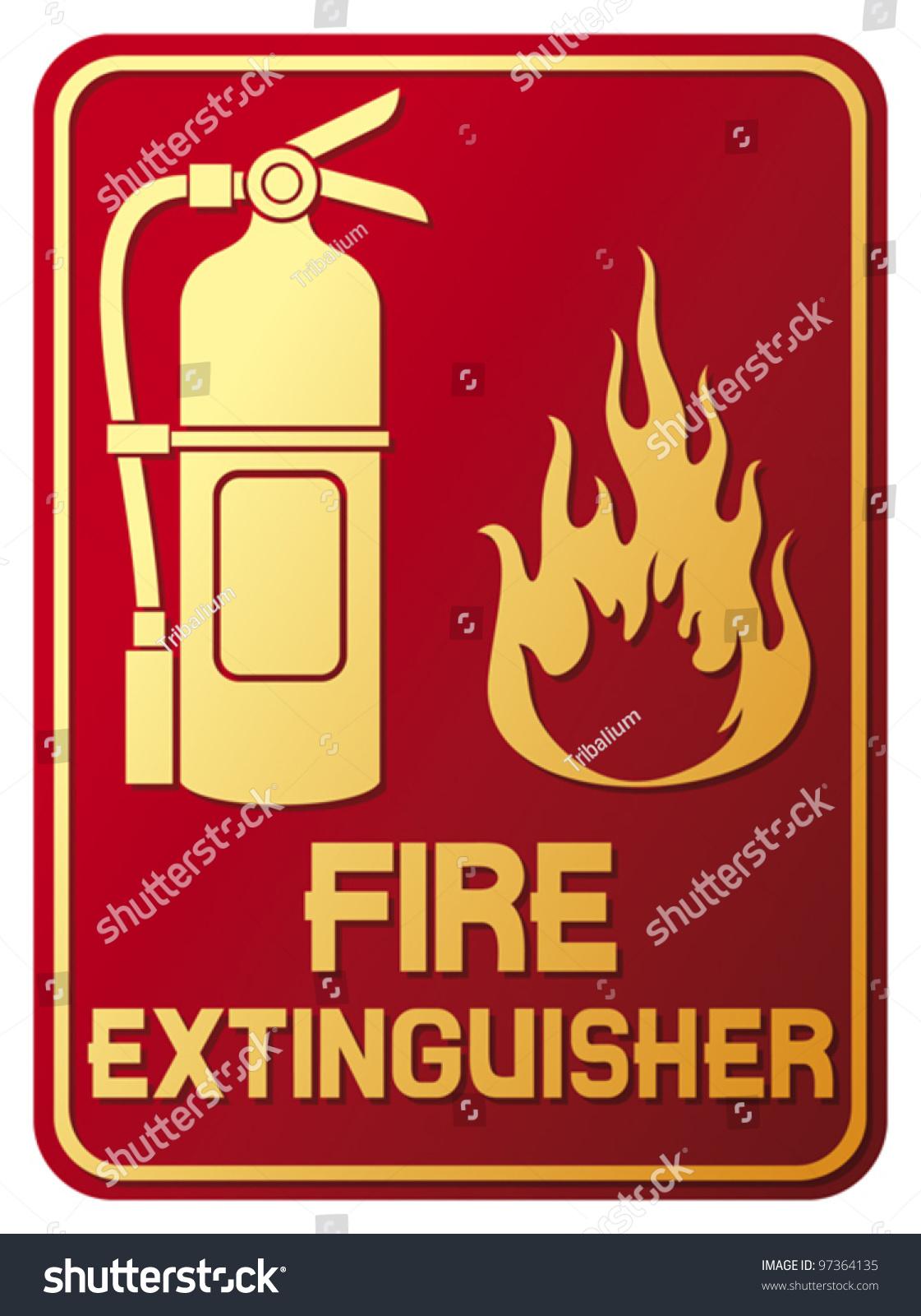 fire extinguisher sign stock vector illustration 97364135