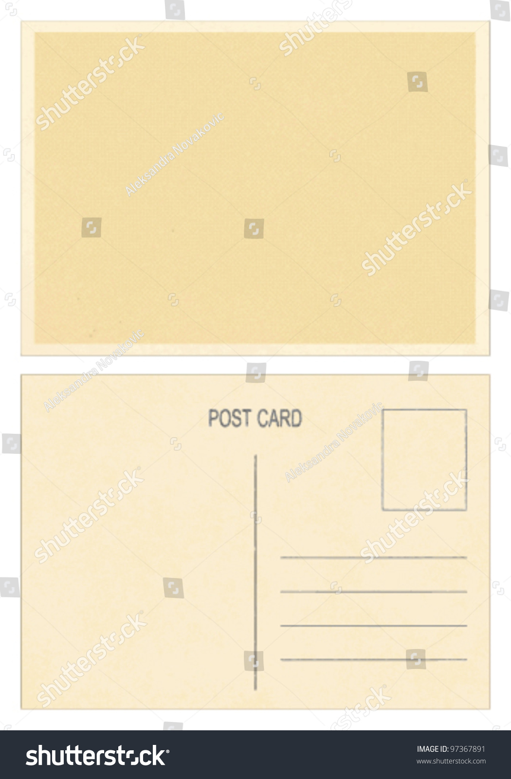 blank vintage postcard front back side stock vector royalty free