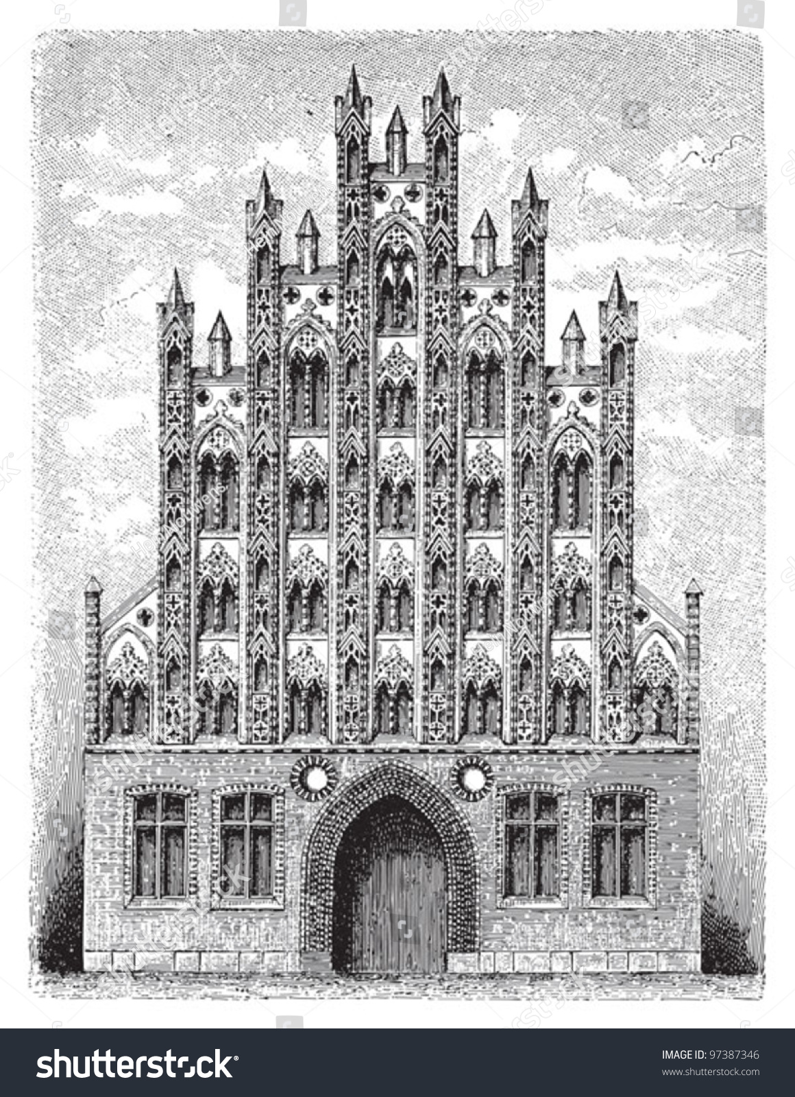 Simple Gothic Architecture Drawing Gothic Architecture Vintage