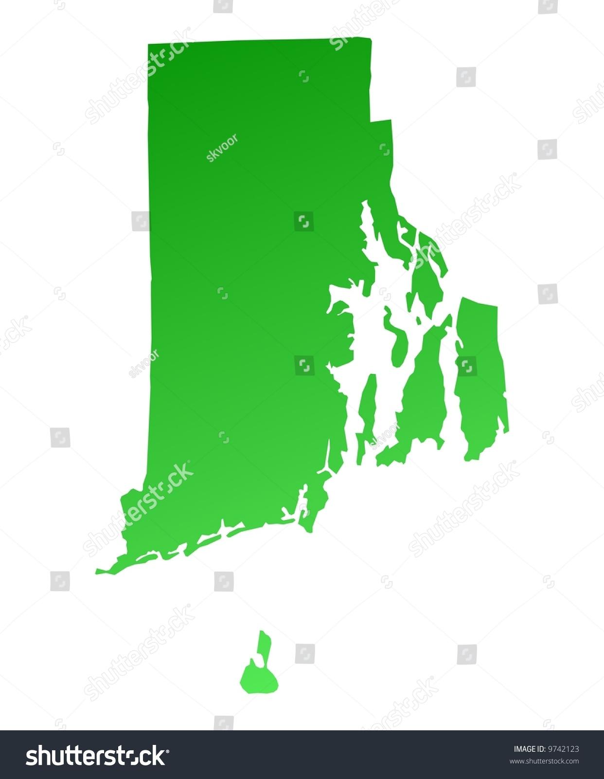 Rhode Island Map Usa New England Map Us Rhode Island Map Stock