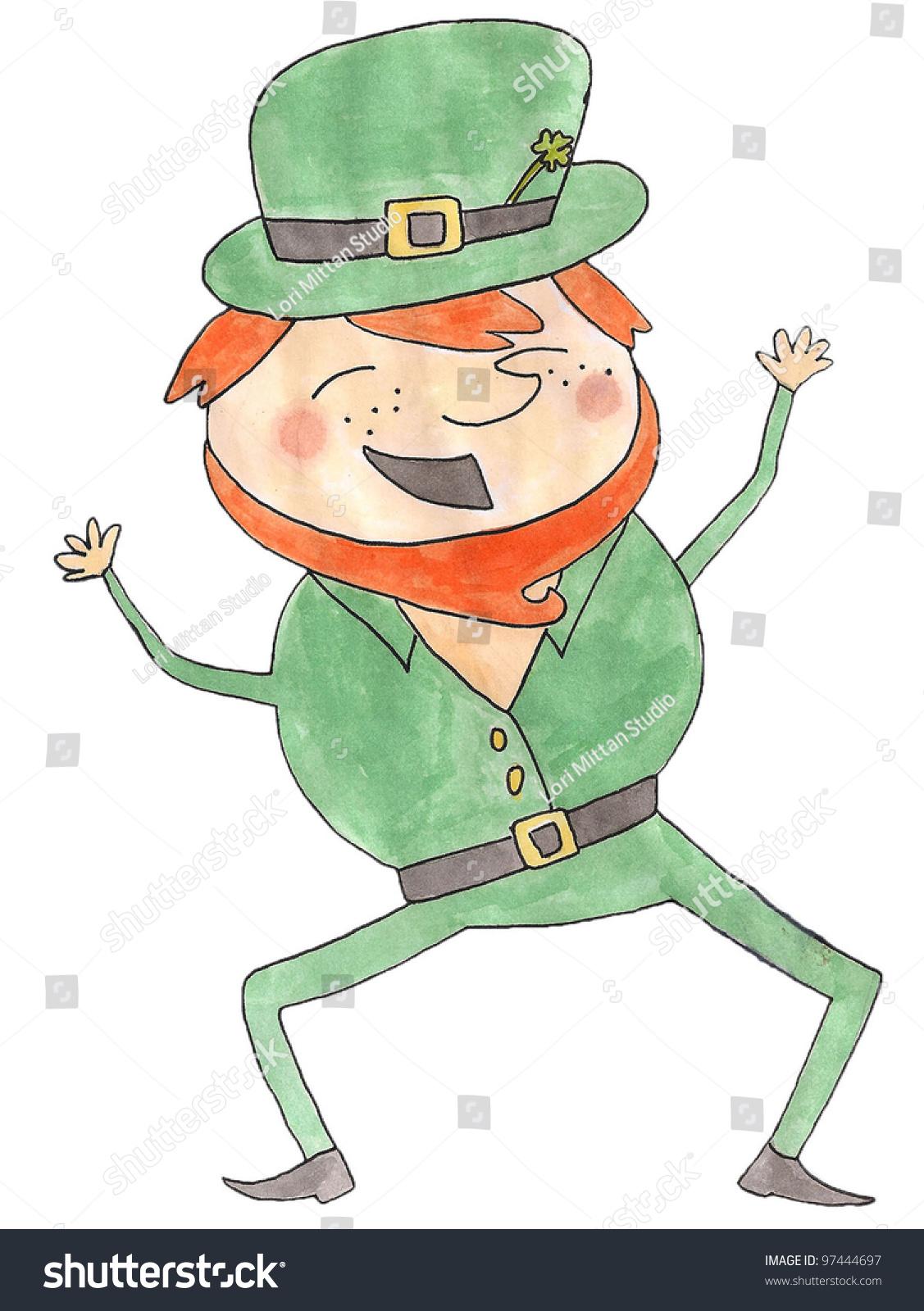 st patricks day leprechaun happy leprechaun stock illustration