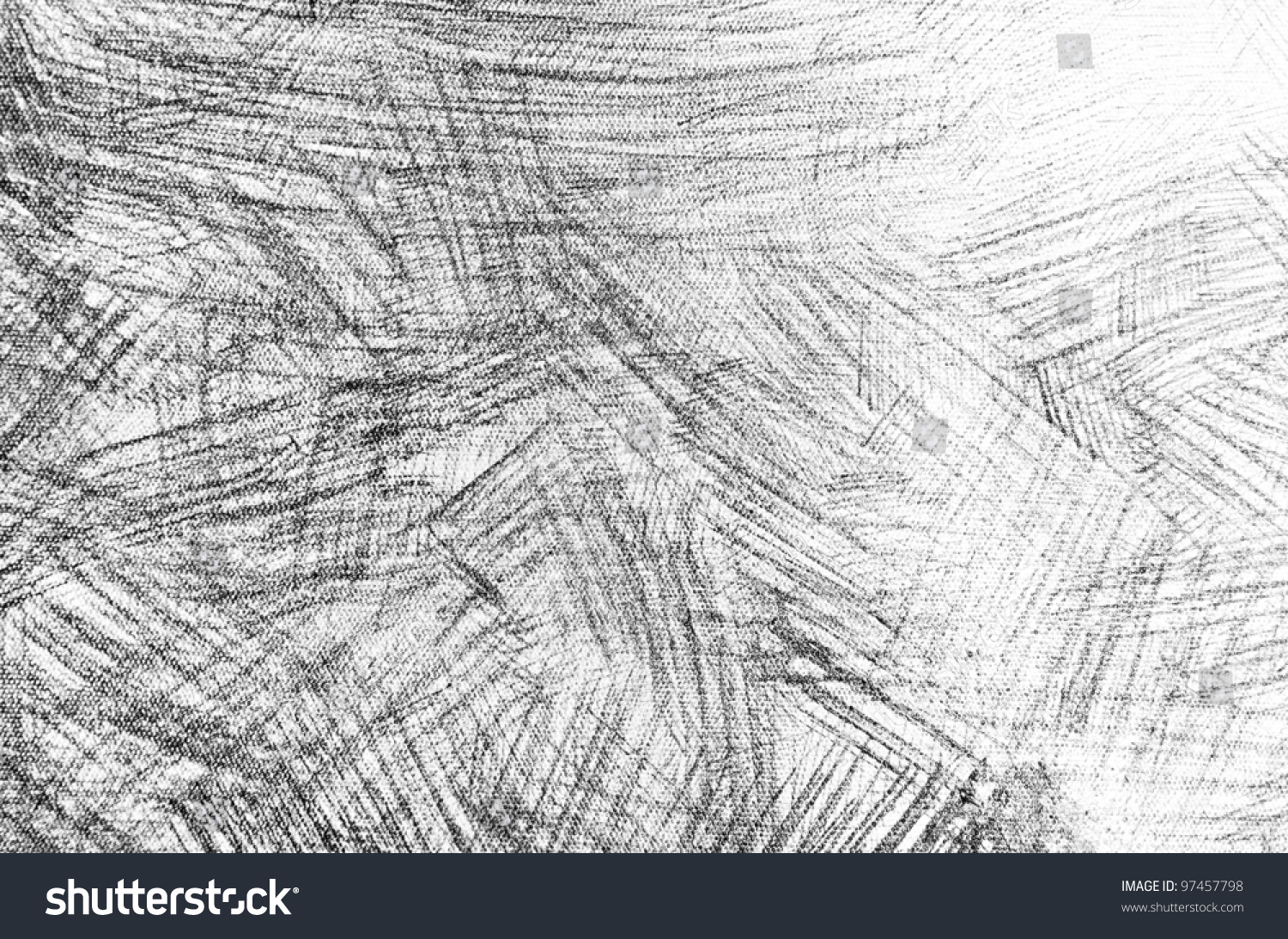 Pencil Sketch Grunge Texture Stock Photo 97457798 ...