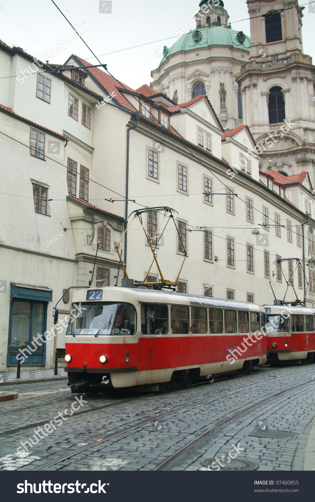 old tram prague street - photo #17