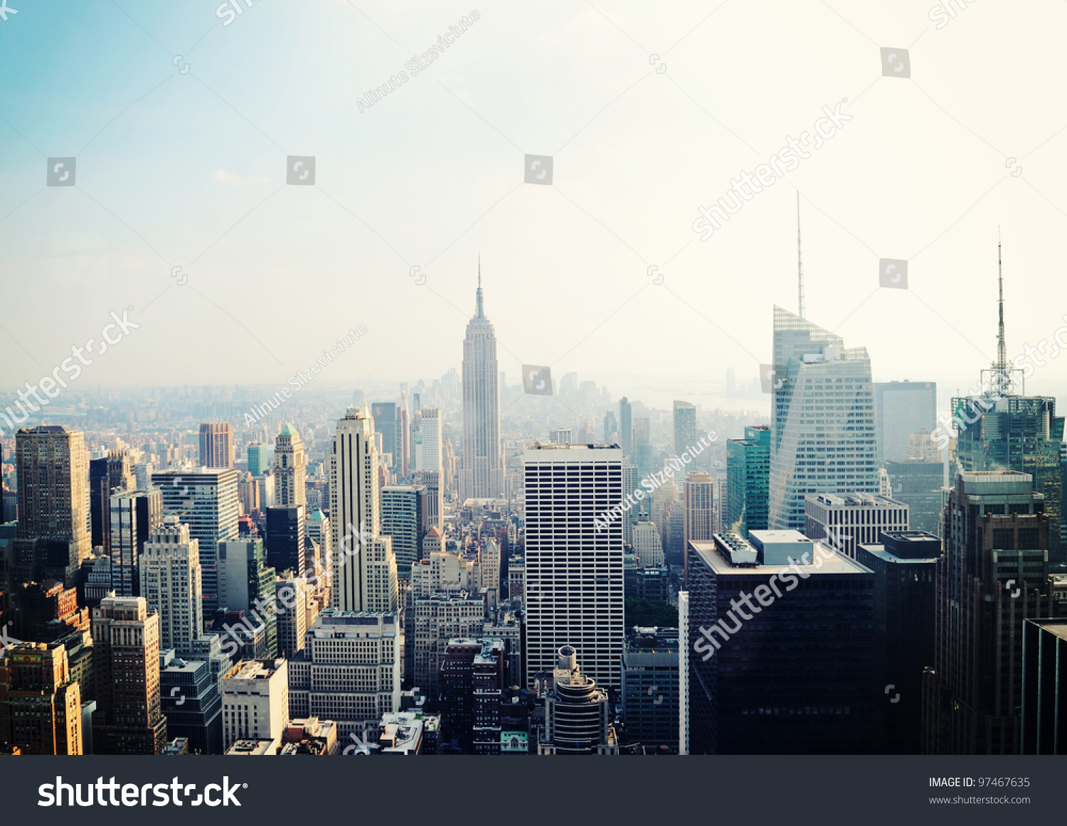new york city manhattan skyline aerial stock photo 97467635 shutterstock. Black Bedroom Furniture Sets. Home Design Ideas