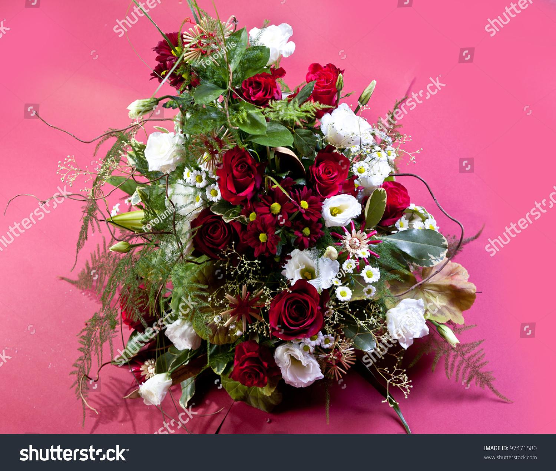 Beautiful flower arrangements winter spring summer stock photo edit beautiful flower arrangements for winter spring summer and autumn with colored backgrounds of red izmirmasajfo