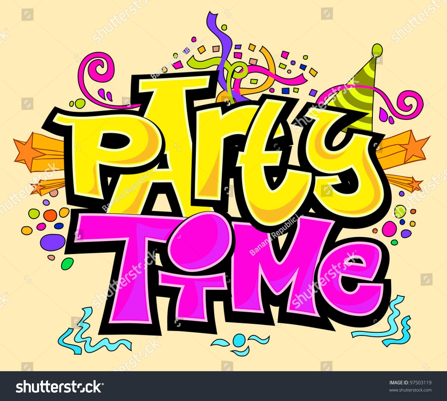 Party Time Stock Vector 97503119 - Shutterstock