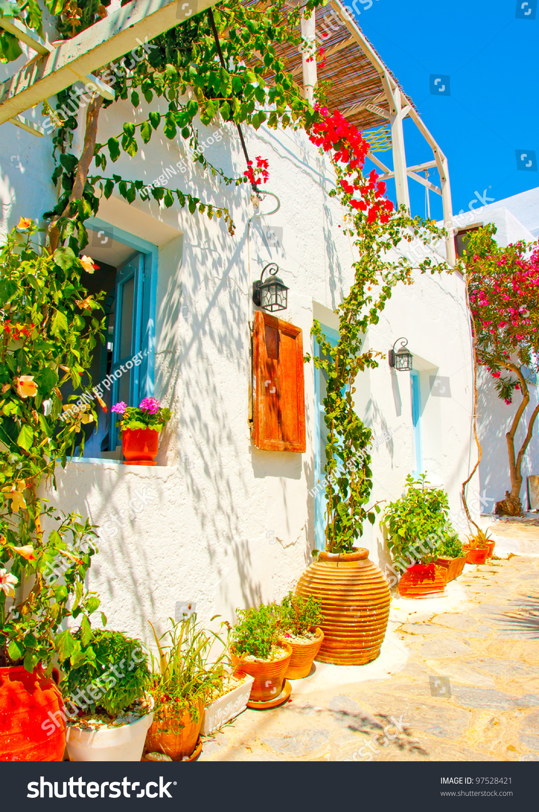 Old beautiful traditional house in chora the capital of amorgos island - Old Beautiful Traditional House In Chora The Capital Of Amorgos Island In Greece Preview Save To A Lightbox