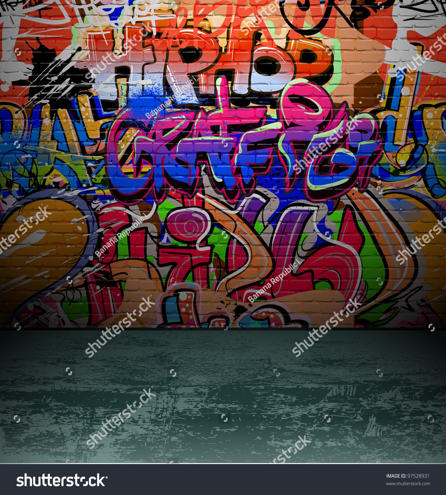 Graffiti wall vector free - Graffiti Wall Background Urban Street Grunge Art Vector Design
