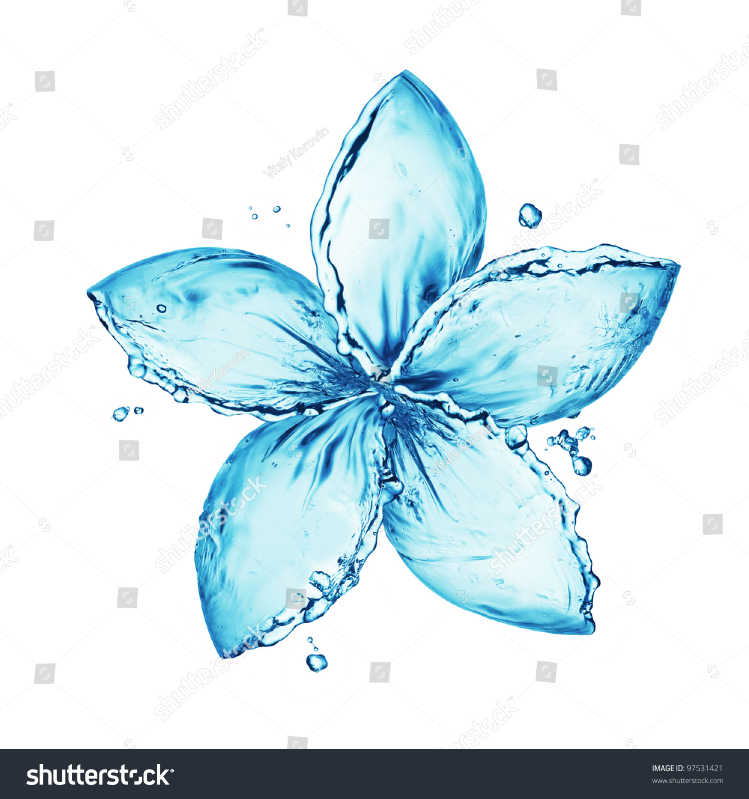 Flower Made Water Splash Stock Photo 97531421 Shutterstock