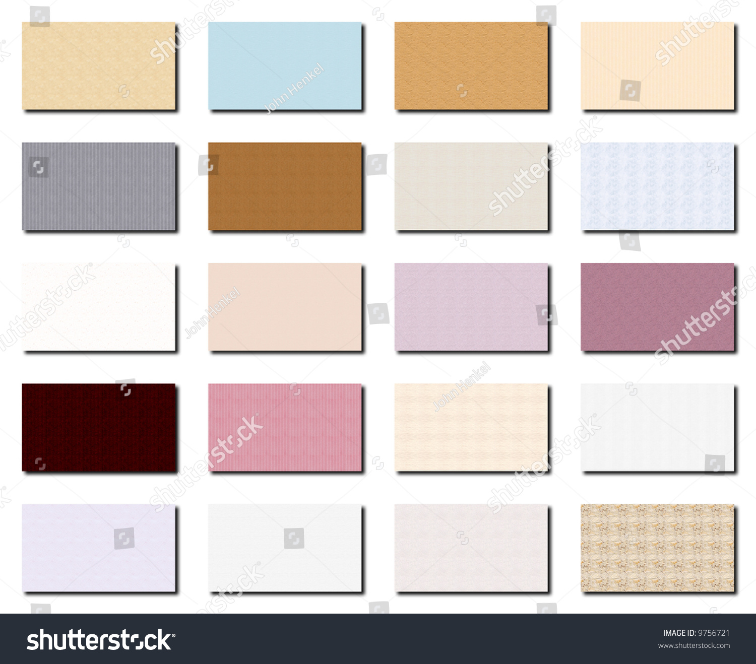 Business Card Collection Twenty 20 Business Stock Illustration ...