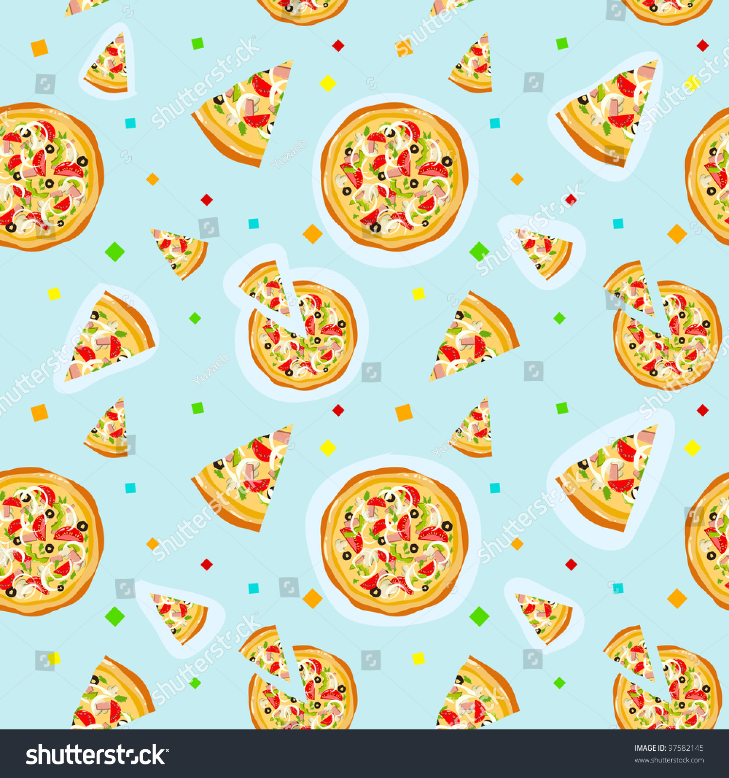 repeating pizza background - photo #8