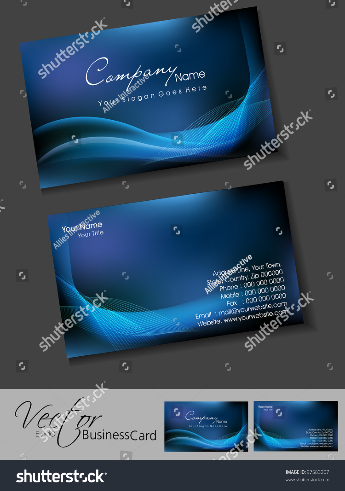 Professional Business Cards Template Visiting Card Vector – Visiting Cards