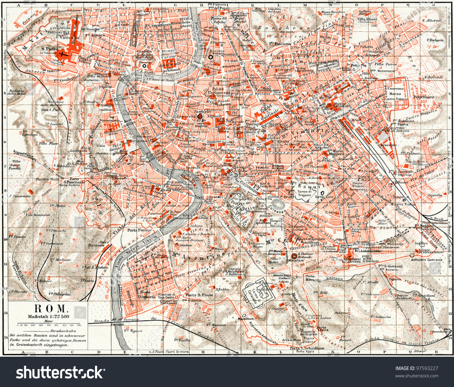 Map rome publication book meyers konversationslexikon stock map rome publication book meyers konversationslexikon stock illustration 97593227 shutterstock gumiabroncs Image collections