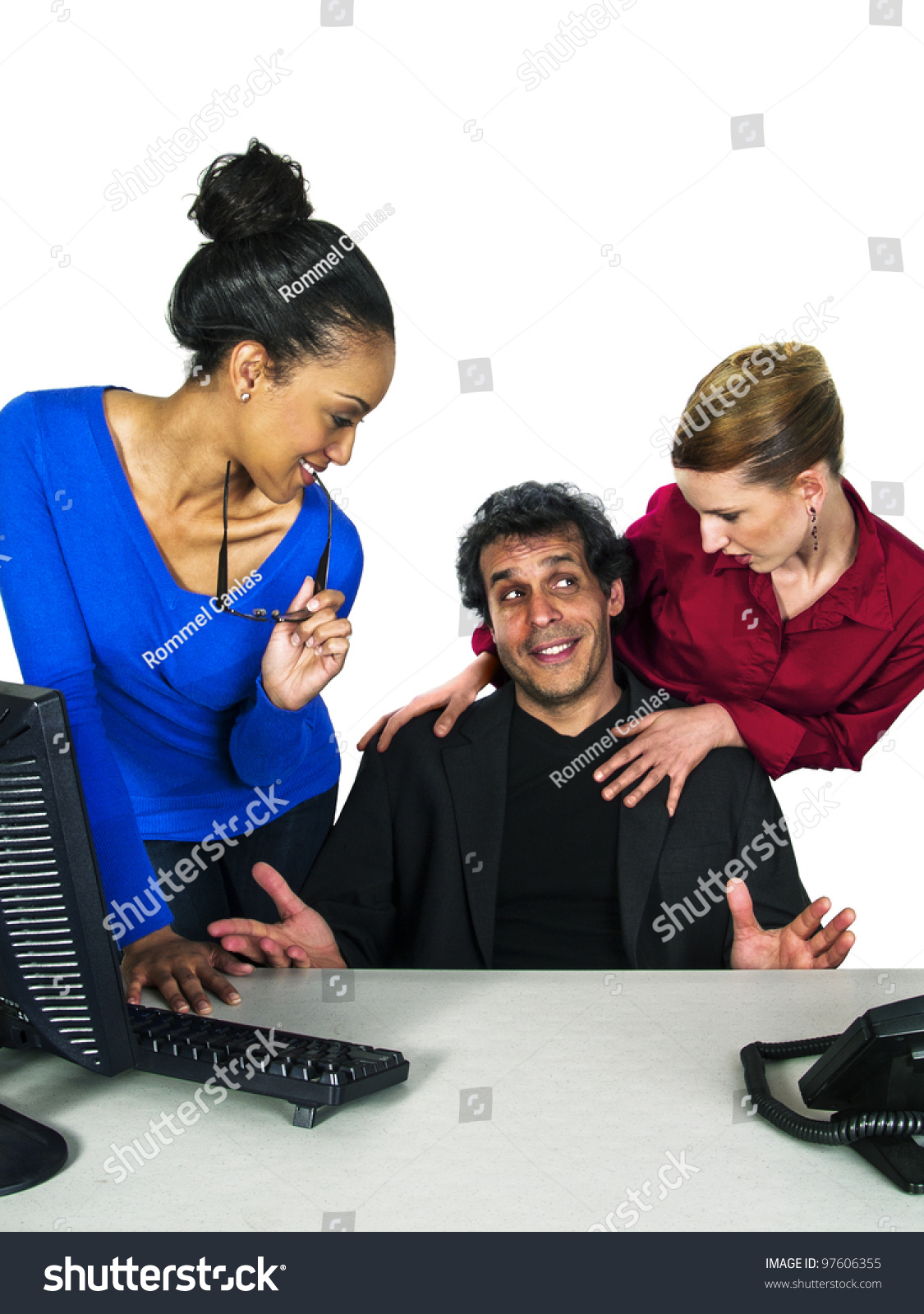 stop flirting with coworker So, when does flirting cross that invincible line from innocent or with a co- worker with whom you playfully banter, you might stop to ask.