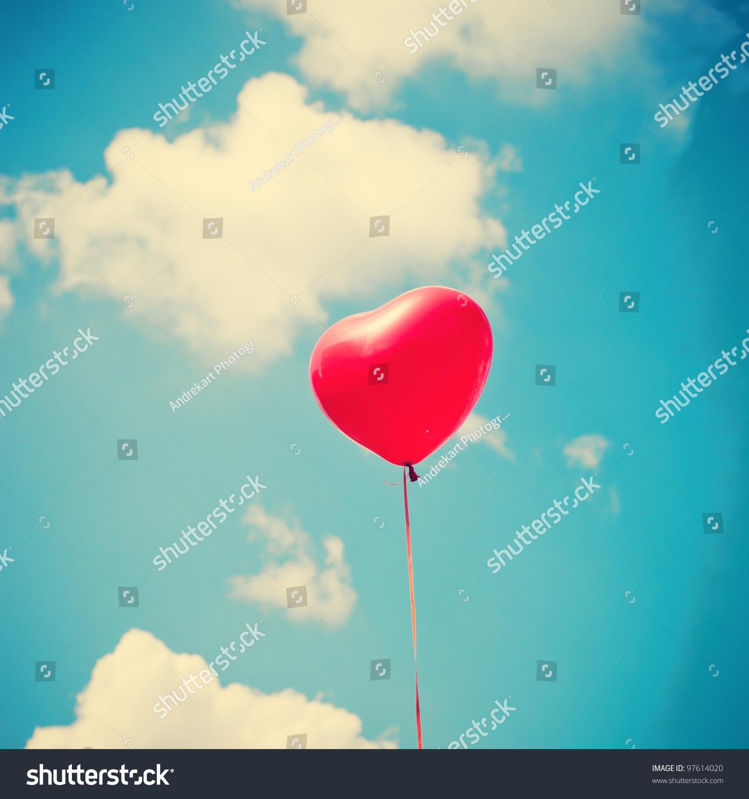 Heart balloon stock photo 97614020 shutterstock - How to make heart balloon ...