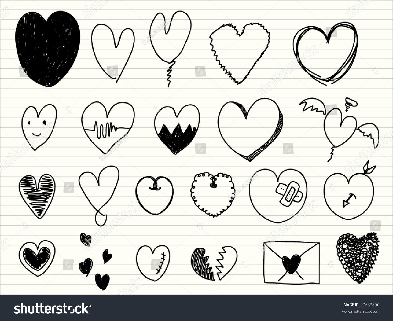 Hearts symbols stock vector 97632890 shutterstock hearts symbols biocorpaavc