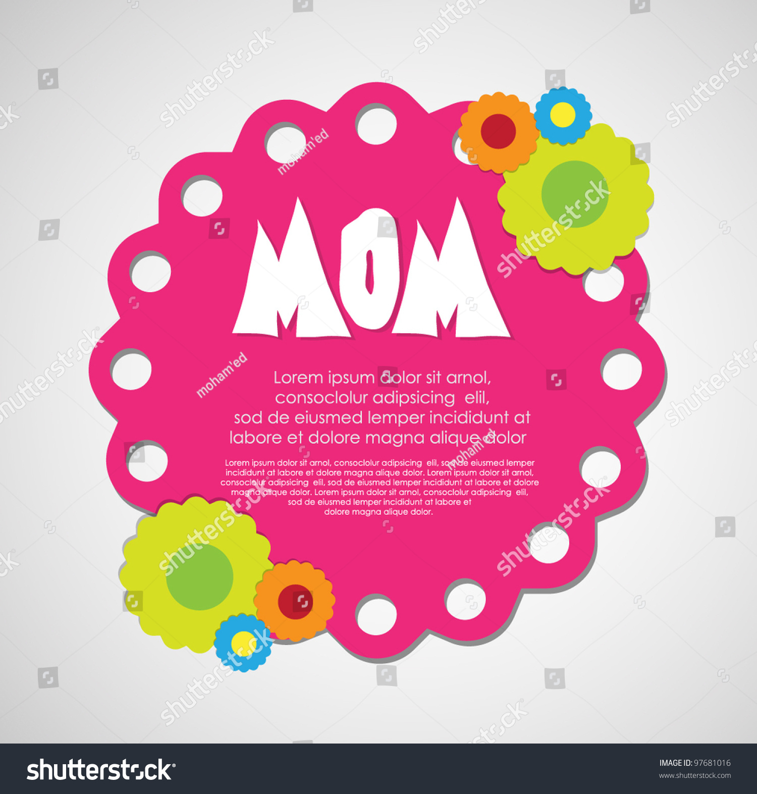 Stock Vector Mothers Day