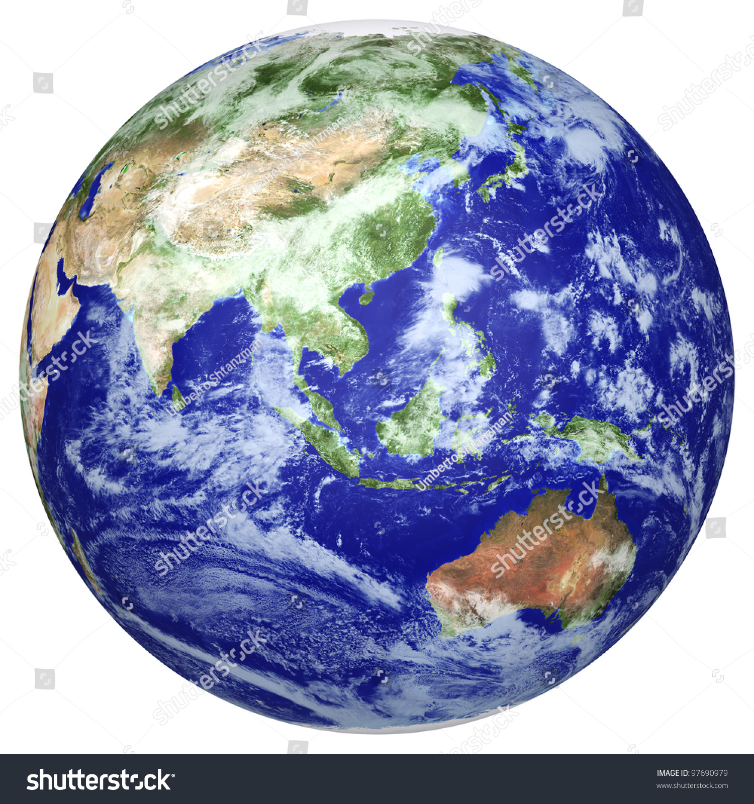 earth globe cloud map side of the asia and australia the earth texture of