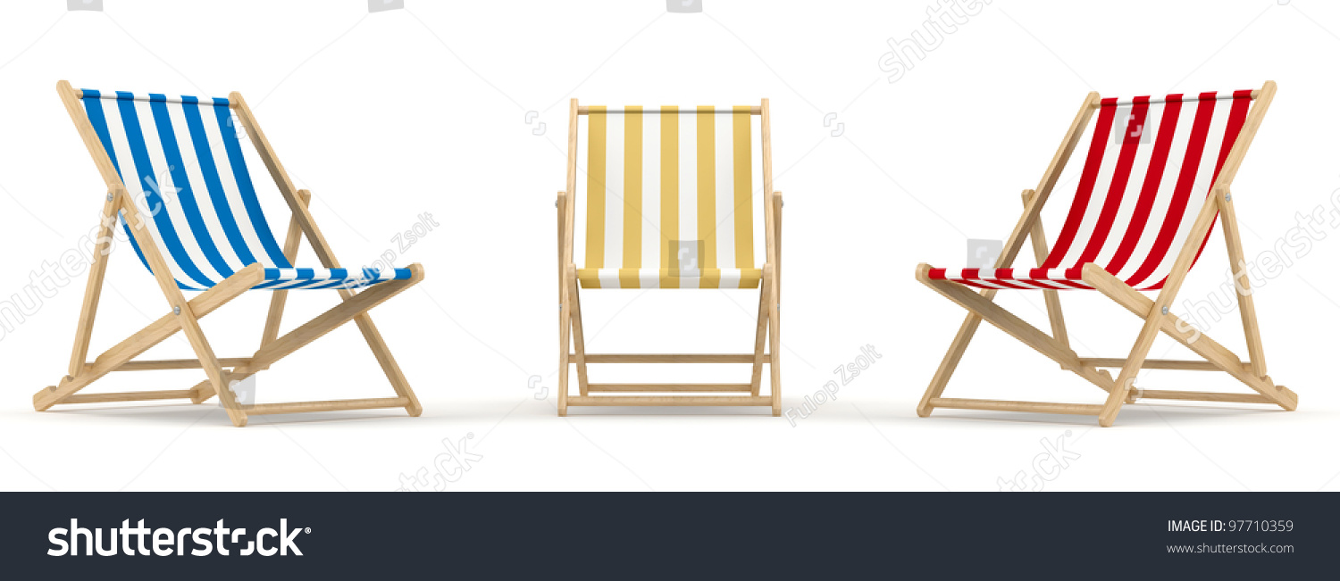 render of 3 deck chair in different color and position  sc 1 st  Shutterstock & Render 3 Deck Chair Different Color Stock Illustration 97710359 ...