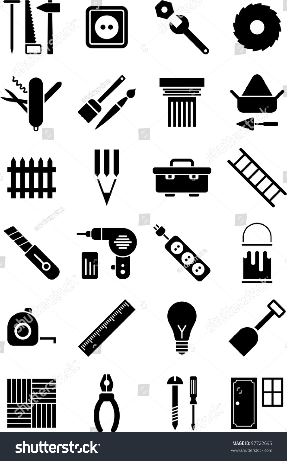 Diy Tools Icons Stock-vektorgrafik 97722695 - Shutterstock