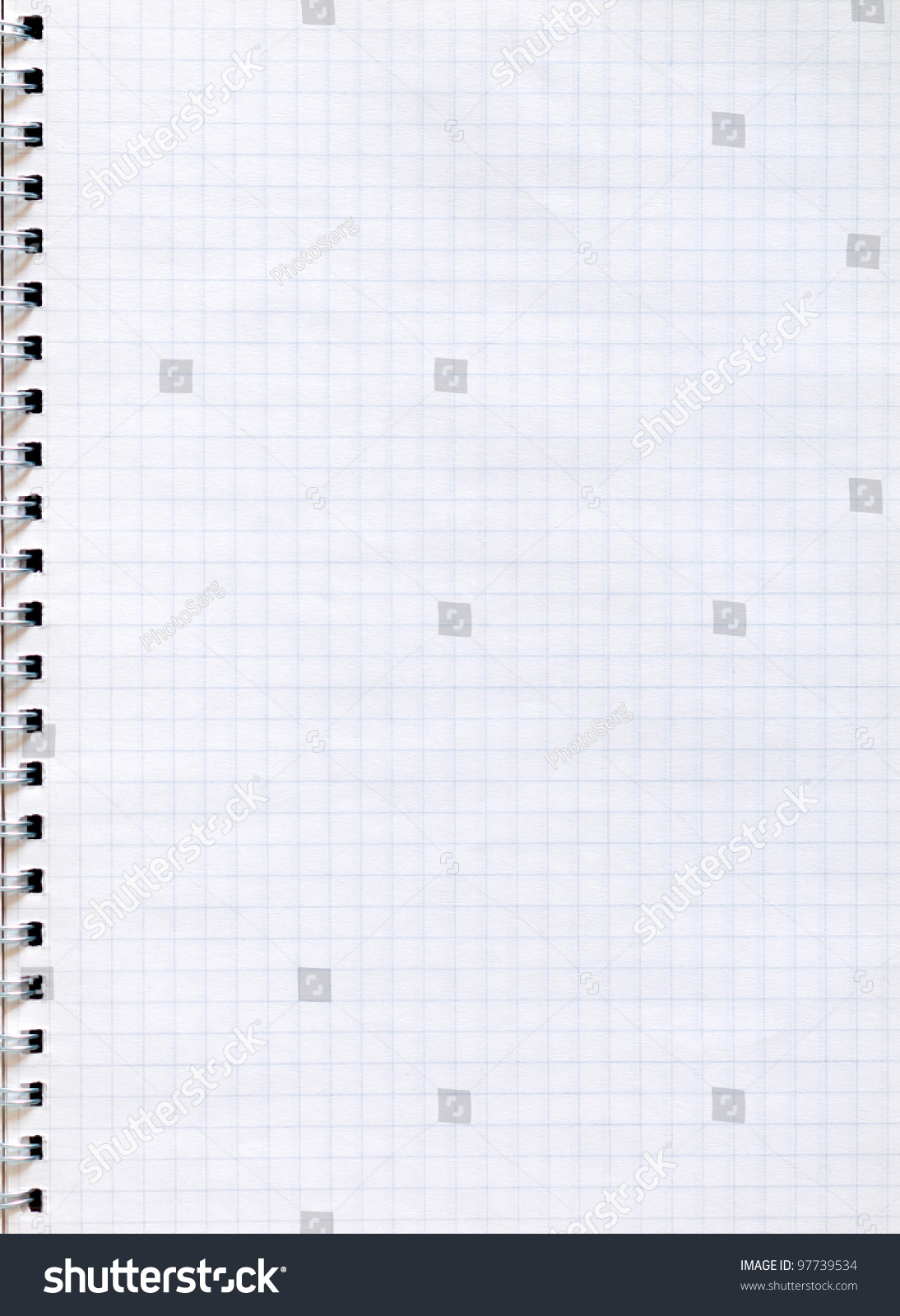spiral notepad graph paper stock photo 97739534   shutterstock