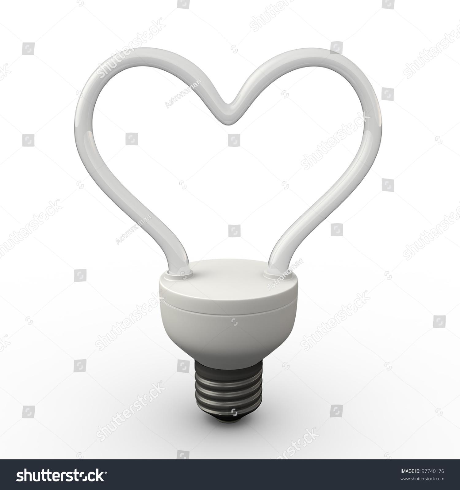 Energy Saving Fluorescent Light Bulb Shape Stock Illustration